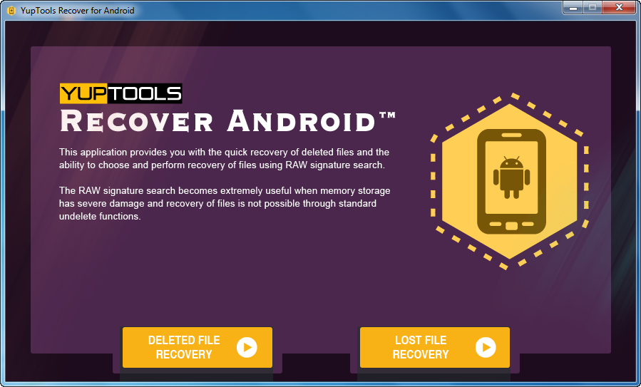 YupTools Recover for Android full screenshot