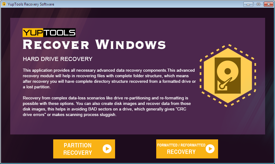 Incredible tool for data recovery on Windows